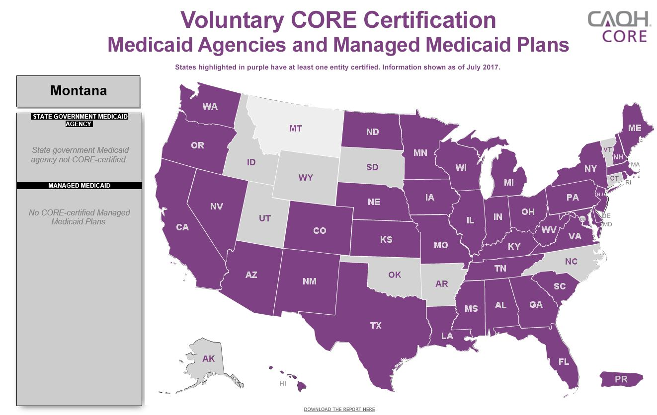Voluntary CORE Certification by Medicaid
