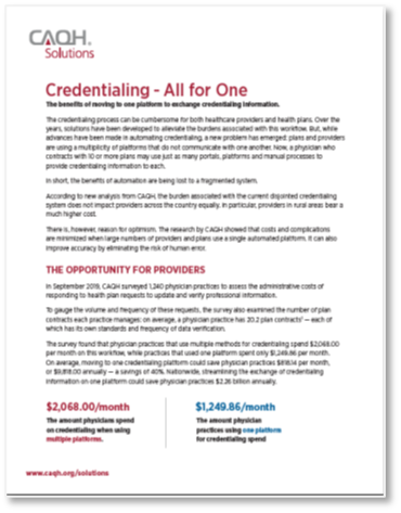Credentialing Brief