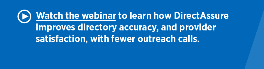 DirectAssure case study - Provider Directory Accuracy webinar