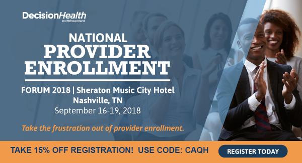2018 National Provider Enrollment Forum
